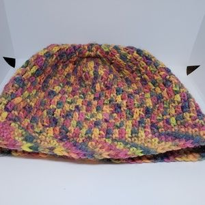 Multi colored knit hat